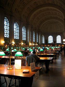 Boston Public Library, reading room - MA, September 2006