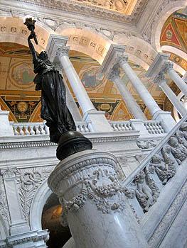 Hall de la bibliothèque du congrès - DC, October 2006