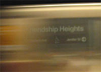 Friendship Heights metro station, DC - June 2006