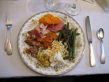 Thanksgiving Turkey Meal, VA - 23 November 2006