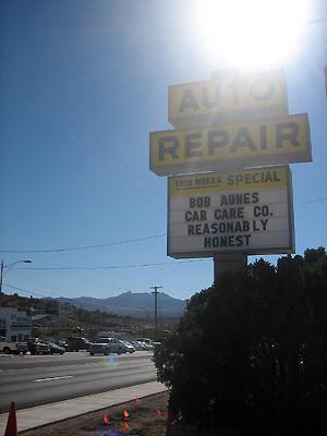Reasonably honest diner\/car dealer on route 66, AZ - OCT 2007