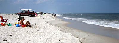 Assateague: sa plage, ses touristes, ses camionettes... - Août 2006