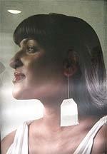 Women Profile with Green Tea Earings - publicité Dove, Eglington subway station, Toronto 2006